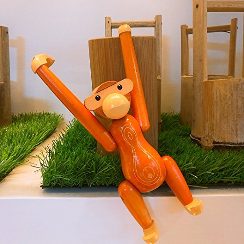 Wood Monkey Action Figure Design Animals Doll Teak Monkey Doll Gift Decorative Accessory