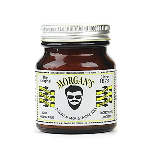 Morgan's Pomade Beard and Moustache Wax Retro Amber Jar,50g, 0.11 lb Morgan' s Pomade M036