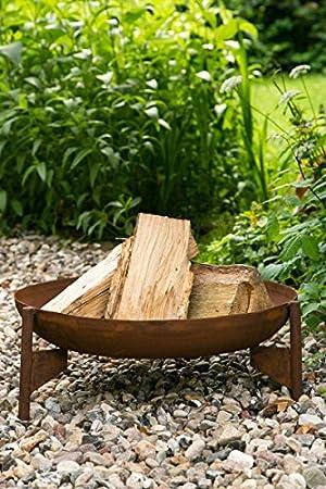 Feuerschale Rost Ø 55cm Schmiedeeisen Feuerkorb Rostig Brennkorb