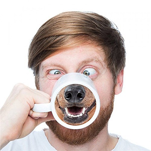 Personilized Funny Novelty Gift Dog Nose Coffee Tea Mug Cup 12oz (Dog Nose)