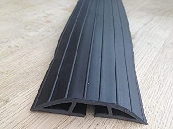 BiMi Extra Long 2m Black Rubber Floor Cable Wires Safety Cover ...