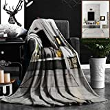 """Nalagoo Unique Custom Flannel Blankets Lounge Decor Beautiful Contemporary Lounge With Fireplace Television Loudspeaker Box Books F Super Soft Blanketry for Bed Couch, Throw Blanket 40"""" x 60"""""""