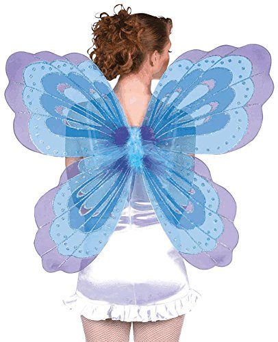 [Jumbo 32in Butterfly Wings by Party America] (Blue Fairy Glitter Costumes)