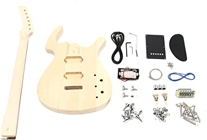 Diy Unfinished 6 String Bass Electric Guitar Body Kit Tilo con Mango de Acero - Do It Yourself Kit de montaje: Amazon.es: Instrumentos musicales