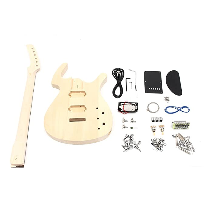 Diy Unfinished 6 String Bass Electric Guitar Body Kit Tilo con ...