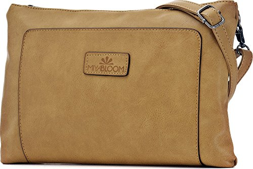 D Camel 22 underarm ladies BLOOM colour bags clutches evening handbags bags x W crossover bags camel x bags 2 x x MIYA cm 33 shoulder H BC6qww