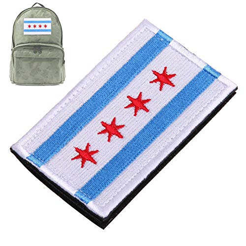 Sala-Store - Patch Morale 3D Embroidered 4 Star Armband Flag Chicago Alumni Police Flag Morale Tags Patches Military Army Badges