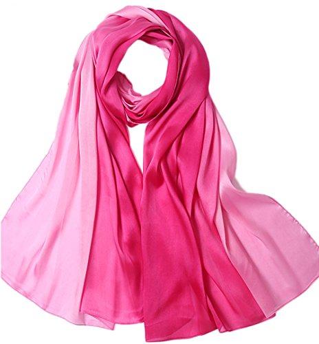 Uv Rosa Color Seda Invierno Todas colorida Verano Mujer larga Gran las 5 bufandas bufanda Anti doble Bufanda Xa1x8zqwB