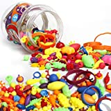 Amytalk 300PCS Snap Beads Set, Kids' Jewelry Making Kits for Necklace and Bracelet for Girls Art Crafts Gift Toys (300 PCS)