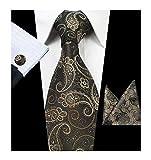 Mens Big Boys Silk Ties Skinny Paisley Woven Formal Business Dance Suit Necktie