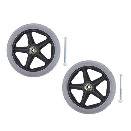 B Baosity 2 ruedas delanteras de repuesto para silla de ...