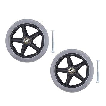 B Baosity 2 ruedas delanteras de repuesto para silla de ruedas profesional, 6 pulgadas de rueda 5/16 pulgadas de rodamiento: Amazon.es: Salud y cuidado ...