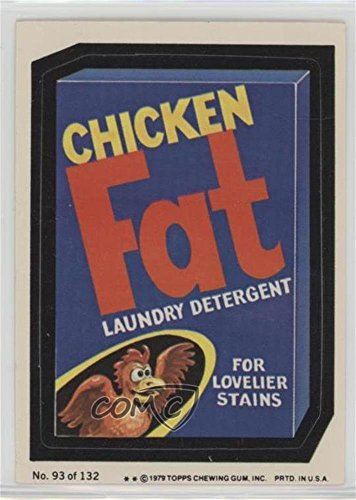 Chicken Fat Laundry Detergent (Two Stars) (Trading Card) 1979 Topps Wacky Packages Rerun Series 2 - [Base] #93.2 Detergent Base