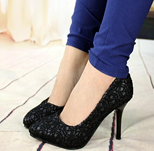 GTVERNH Lace six Shoes Heel Sexy High Heels Thirty Sharp Temperament And Red Professional ggTAfwq