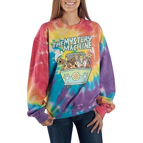 Tie Dye Scooby Doo Long Sleeve Shirt Mystery Machine Shirt Scooby Doo Shirt-Small White -