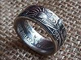 Walking Liberty Half Dollar Coin Ring 90% Silver. Birthday Gift, Wedding Anniversary