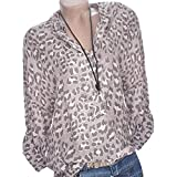 Redbrowm Top Women Long,Leopard V-Neck Long-Sleeved Fashion Casual Blouse