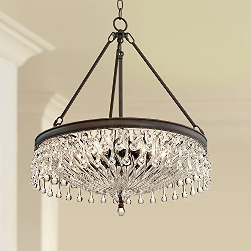 """Macey 20 1/4"""" Wide Bronze Crystal Chandelier - Vienna for sale  Delivered anywhere in USA"""