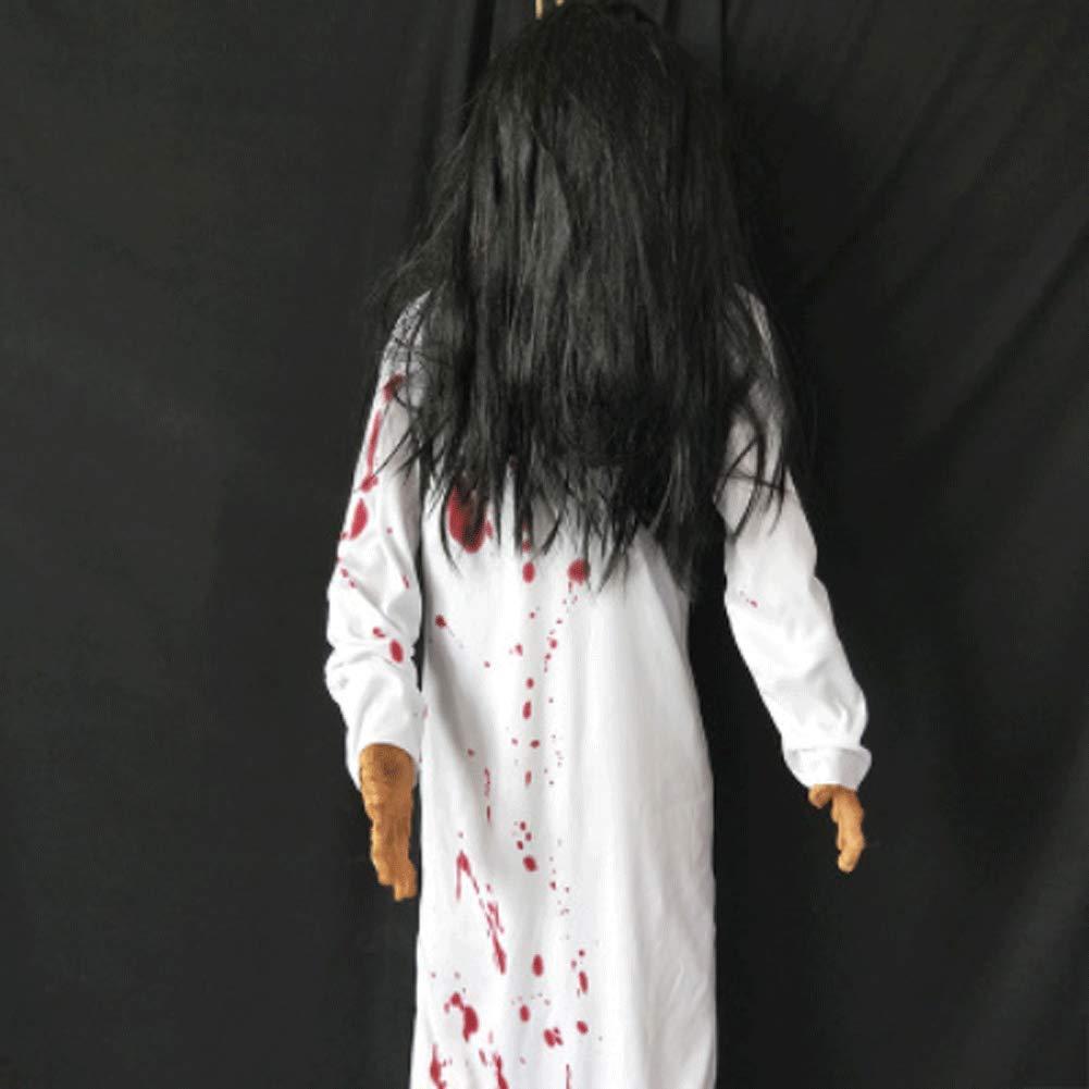 LLU Halloween Chambre évasion Ville fantôme décoration Scorpion Corps Suspendu cadavre hanté Maison Horreur Simulation Simulation Mannequin Effrayant Accessoires