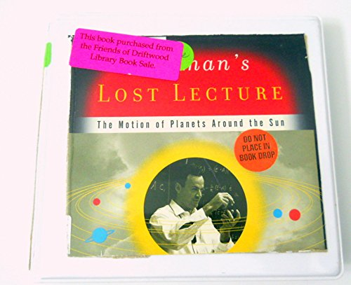 Feynmans The Lost Lecture The Motion of Planets Around the Sun by David and Judith Goodstein Audio CD Book