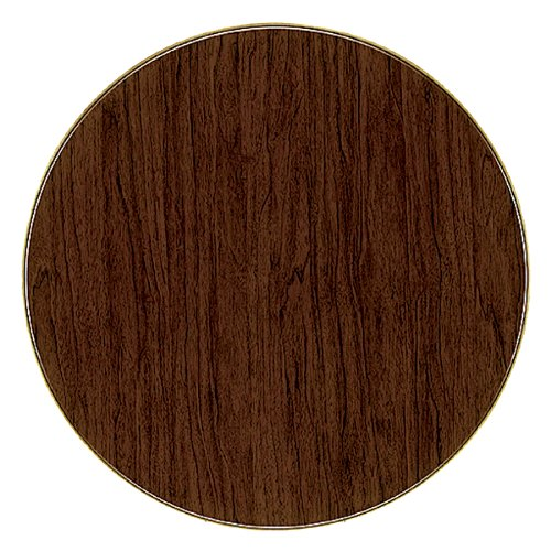ATC Werzalit Wood-Look Table Top, 28'' D, Italian Walnut (Pack of 2) by American Trading Company