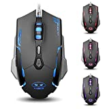 Yanni G2 Wired USB Computer Optical Gaming Mouse Mice 6 Buttons 3200 DPI Leds For PC Mac Lumix (Black)