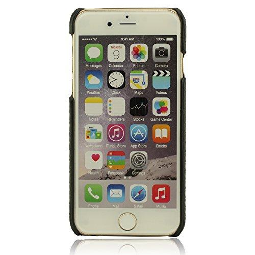 Métal Bague Conception Titulaire Fonction, Dur Rigide iPhone 6 Coque, iPhone 6S Coque, Housse Étui Case Cover pour iPhone 6 / 6S 4.7 Pouce, Animal Pelle Grano Lion Apparence + Joli Pendentif - Noir