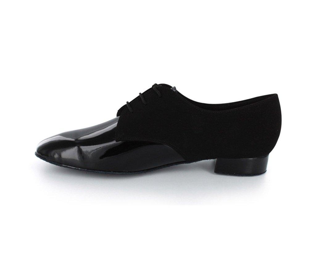 TDA Men's JF917504 Fashion Black Suede Leather Tango Salsa Ballroom Latin Dance Shoes 9 M US by TDA (Image #3)