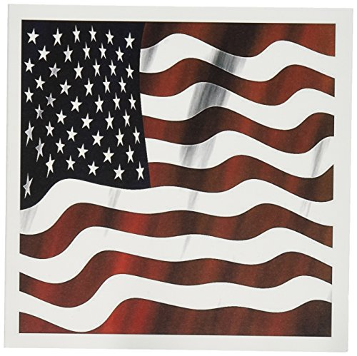 Note Flag American (3dRose A Close Up Of A Wavy Patriotic American Flag In Red, White, and Blue - Greeting Cards, 6 x 6 inches, set of 12 (gc_125032_2))