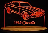 1969 Chevelle Acrylic Lighted Edge Lit 11-13'' LED Sign / Light Up Plaque 69 VVD1 Made in USA