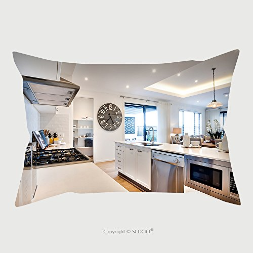 Custom Microfiber Pillowcase Protector Modern Kitchenware Including A Stove With Silverware And Ovens With Countertop Next To Big Wooden 451985032 Pillow Case Covers Decorative price