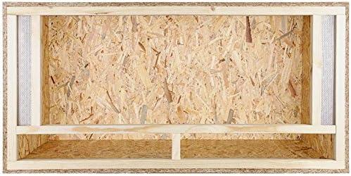 repi Terra Terrario de madera 120 x 60 x 80 cm con ventilación frontal de tableros OSB con vidrio flotado: Amazon.es: Productos para mascotas