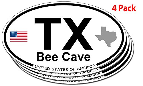 Bee Cave, Texas Oval Sticker - 4 - Caves Bee Texas