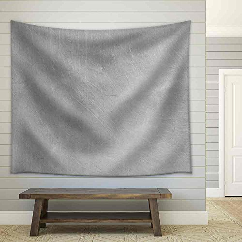 Brushed Silver Metallic Background Fabric Wall Tapestry