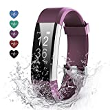 Effeltch Fitness Tracker HR, Activity Tracker with Heart Rate Monitor Fitness Tracker IP 67 Waterproof with Auto-Sleep Monitor and multi Tracking Modes for Women Kids Men (Purple)