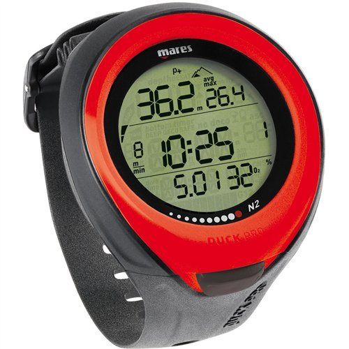 Mares Puck Pro Wrist Dive Computer - Red by Mares