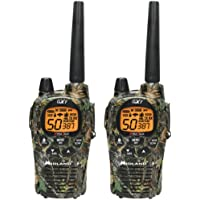 1 - 36-Mile Camo GMRS Radio Pair Pack with Batteries & Drop-in Charger, 36-mile range, 28 special channels, GXT1050VP4