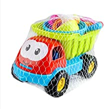 Sealive 8 pcs/set Beach Toys Playset for Kids, Large Dump Truck Sand Shovel Summer Set funny tools box for baby&kids&children 1 -10 years