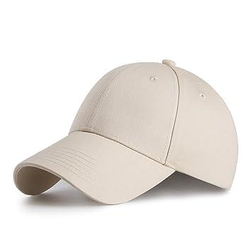 HGDGears Gorra de Beisbol,algodón Snapback Ajustable Gorra Trucker Hombre Mujer Verano Sombrero de Sol (Beige): Amazon.es: Deportes y aire libre