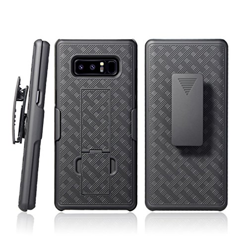 Galaxy Note 8 Case - CellDealsUSA Holster Shell Combo Swivel Belt Clip Kickstand Protective Defender Phone Cover For Samsung Galaxy Note8 - Black