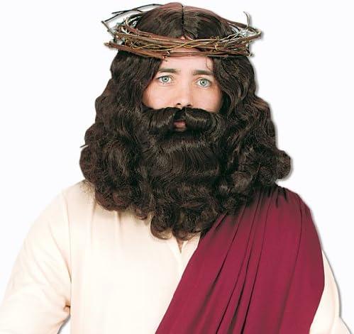 Horror-Shop Peluca de Jesús con barba: Amazon.es: Juguetes y juegos