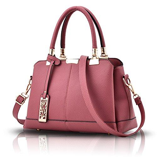 Handbag Bag Tisdaini of Powder Women Handbag Bag Soft Three Fashion Rubber Layers Shoulder Elegant Handbags Wallet PU qtqOwrA