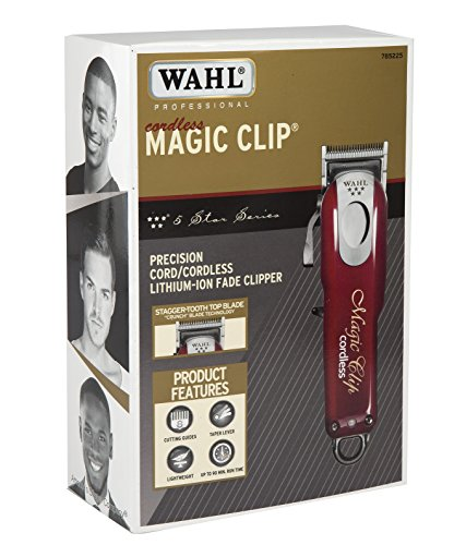 Wahl-Professional-5-Star-CordCordless-Magic-Clip-8148--Great-for-Barbers-and-Stylists--Precision-Cordless-Fade-Clipper-Loaded-with-Features--90-Minute-Run-Time