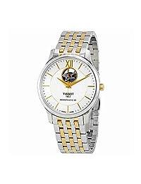 Tissot Men's Tradition Powermatic 80 40mm Two Tone Steel Bracelet Automatic Watch T063.907.22.038.00