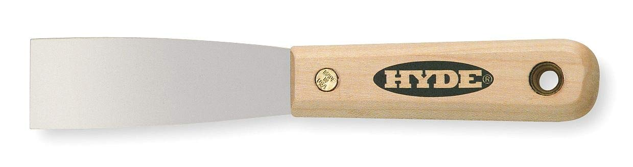 Hyde 7-3/4'' Putty Knife with 1-1/4'' Carbon Steel Blade, Natural - 07010 Pack of 5