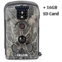 Bestok Trail Hunting Camera 12MP Outdoor Game Cameras for Scouting Wildlife, Infrared 940NM Invisible IR Night Vision, 2.36 LCD Screen, Waterproof IP54, with 16GB SD Memory Card