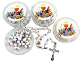 First Holy Communion Rosaries Students Bulk Lot Rosary Set for Boys of Girls, 10 Pack