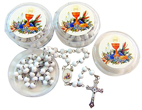 First Holy Communion Rosaries Students Bulk Lot Rosary Set for Boys of Girls, 10 (First Holy Communion Favors)
