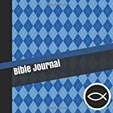 Bible Journal: Teen Boys Daily Bible Reading and Prayer Notebook with Modern Blue Argyle Cover