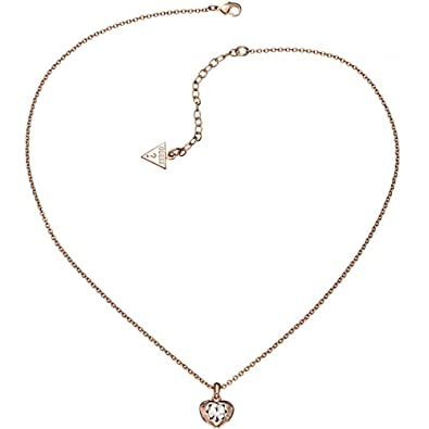 Ladies Guess PVD rose plating Crystals Of Love Necklace UBN51421 3kLewnVrMf